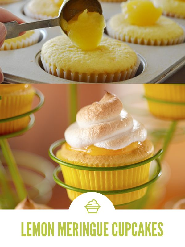 This no-fail Lemon Meringue Cupcake recipe combines boxed cake mix with a homemade meringue topping that's light, fluffy and delicious.