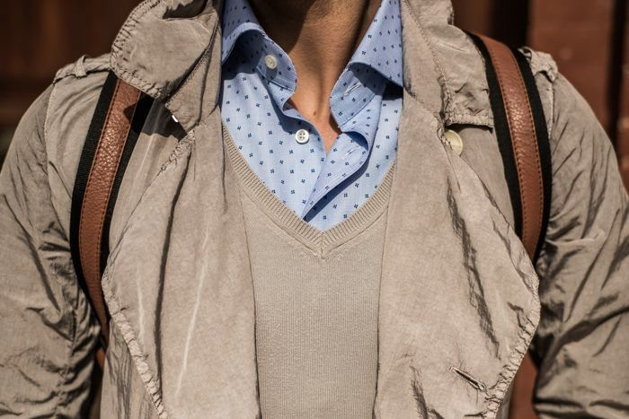 Simply Mr.T wearing a light-blue micro patterned #Delsiena shirt!!