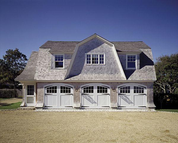 beautiful barn / garage. cedar shingles, beach house look. Edgartown, Massachusetts | Ferguson & Shamamian