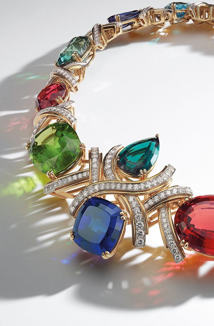 Archival Blue Book Paloma Picasso® Necklace In Platinum And 18k Gold With  Colored Gemstones And