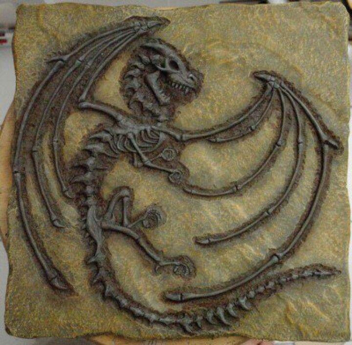 Dragon Fossils My Junior Cert Art Project Ideas
