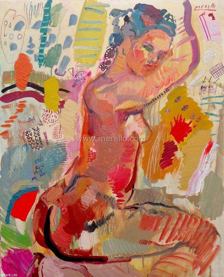 Merello.-Rose nude.Arte contemporaneo. Pintores espanoles actuales. Arte actual,Pintura moderna. Comprar cuadros de artistas contemporaneos.Inversion en arte contemporaneo.