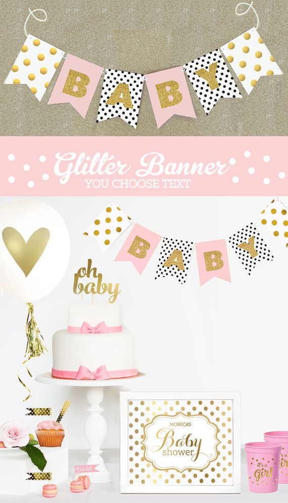 Baby Shower Banner Girl Baby Shower Banner Girl Banner Baby Shower Banner Custom Baby Shower Bunting Baby Shower Garland (EB3062)