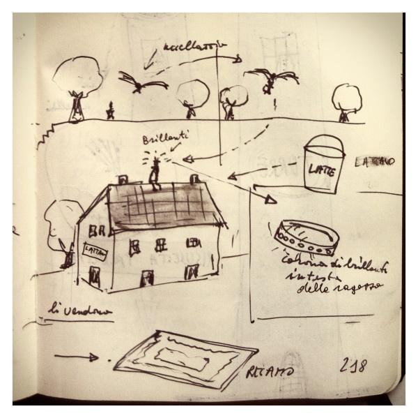 081_La lattaia Regina disegnata da Marco Belpoliti su @ moleskine