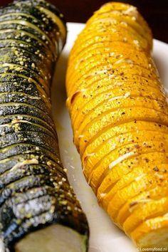 Geroosterde courgette met knoflook uit de oven - Lovemyfood.nl