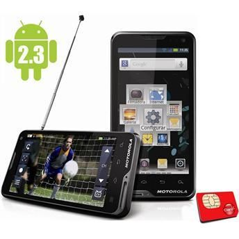 Smartphone Motorola Atrix con TV digital y sistema operativo Android 2.3.