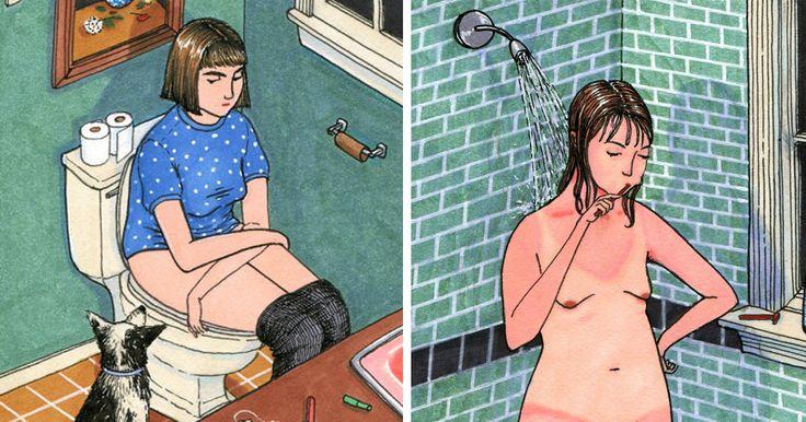 Con potentes y honestos dibujos esta artista retrató lo que las mujeres hacemos cuando nadie nos mira
