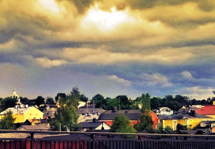 Old Porvoo just before the rain
