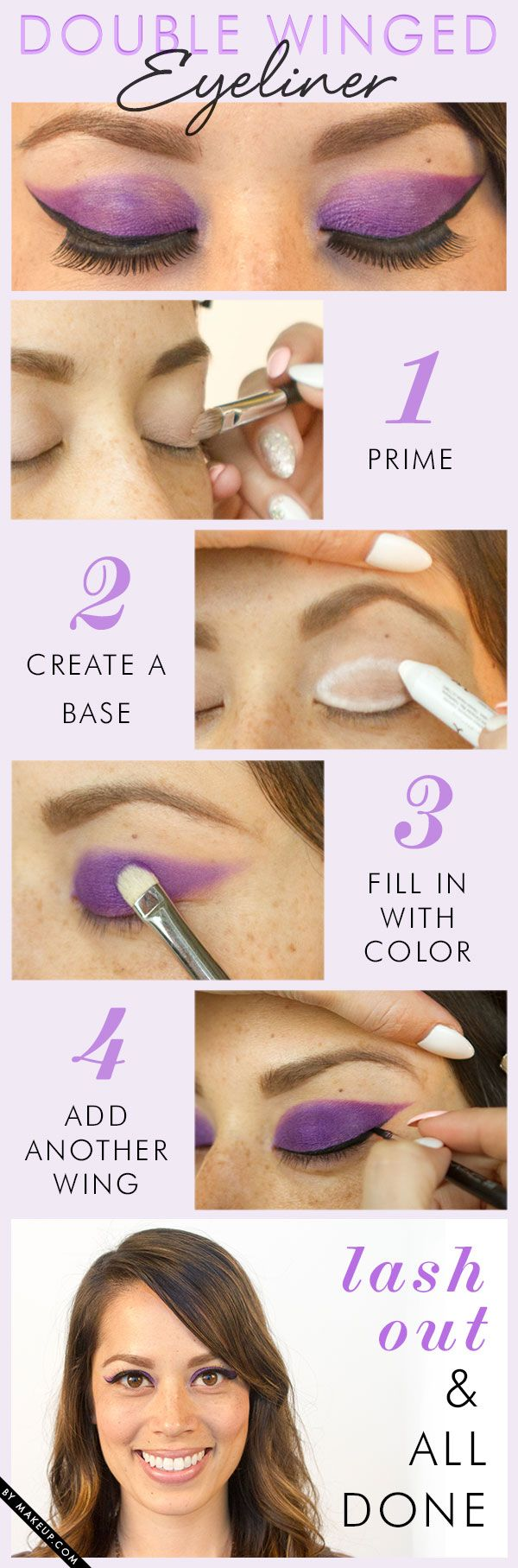 You've mastered winged eyeliner, but what about DOUBLE winged eyeliner!? Check out this eye makeup tutorial and try it yourself!