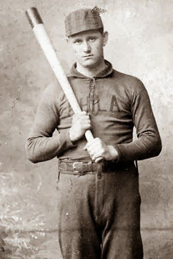 Ed Delahanty / was known as one of the game's early power hitters from 1888 to 1903. Delahanty won a batting title, batted over .400 three times, and has the fifth-highest batting average in MLB history (.346). He was elected to the Baseball Hall of Fame in 1945.  Delahanty died when he was swept over Niagara Falls in 1903. He was apparently kicked off a train by the train's conductor for being drunk and disorderly.