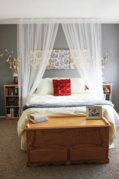 Beautiful Bedroom. #BedroomWall Colors, Decor Ideas, Sheer Curtains, Guest Bedrooms, Beds Canopies, Canopy Beds, Canopies Beds, Bedrooms Ideas, Beautiful Bedrooms