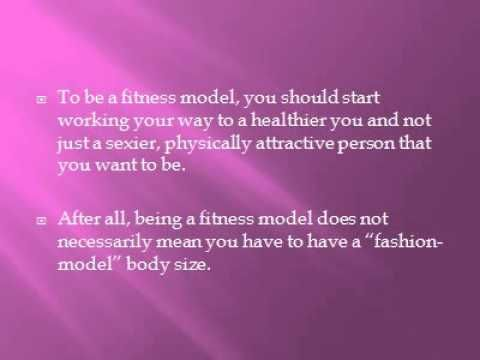 pointers on how to become a fitness model,