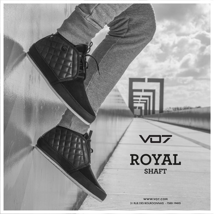 VO7 Royal Shaft - Black mid-top sneakers for men