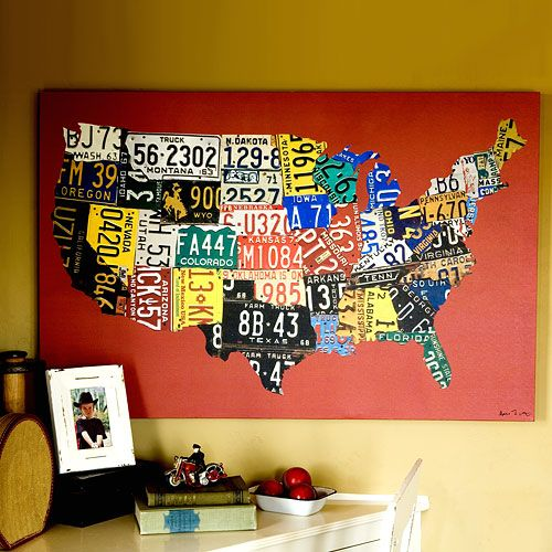 Best AlteredMaps Images On Pinterest Maps Greeting Card - Us map made out of license plates