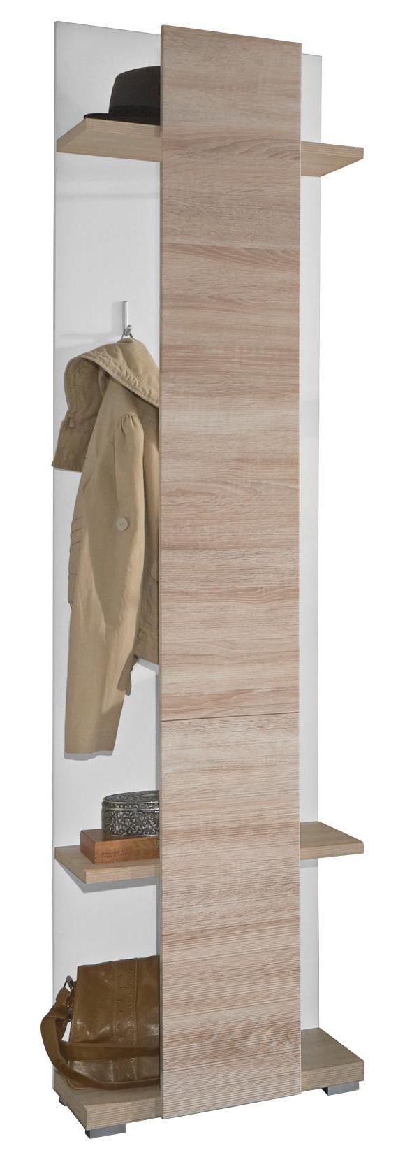 Diese Wandgarderobe von XORA ist aus einer hochwertigen Flachpressplatte gefertigt und mit einer weißen und eichefarbenen Dekorfolie versehen. Besonders charmant ist die sägeraue und geschroppte Oberfläche, die das Gesamtbild harmonisch abrundet. Durch 3 Haken und die Hutablage werden Ihre Jacken, Mützen und Schals praktisch verstaut. Verleihen Sie Ihrem Eingangsbereich mit diesem Garderobenpaneel eine moderne Note!