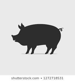 豚シルエットの画像写真素材ベクター画像 Shutterstock チラシ