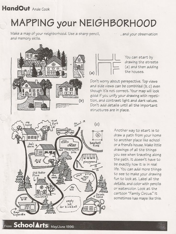 Free: Ande Cook's Mapping your Neighborhood handout and complete substitute art lesson!