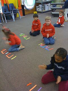"Clapping Rhythm Patterns - lolly sticks used to represent the rhythms ("",)"