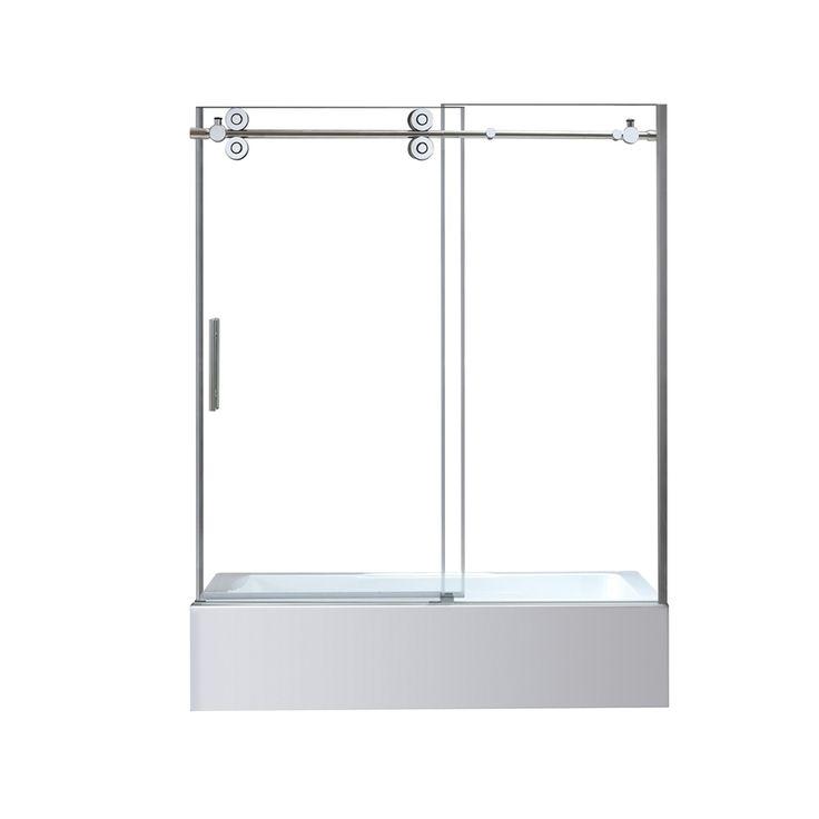 OVE Decors Sydney 59.5-in W x 59-in H Frameless Bathtub Door