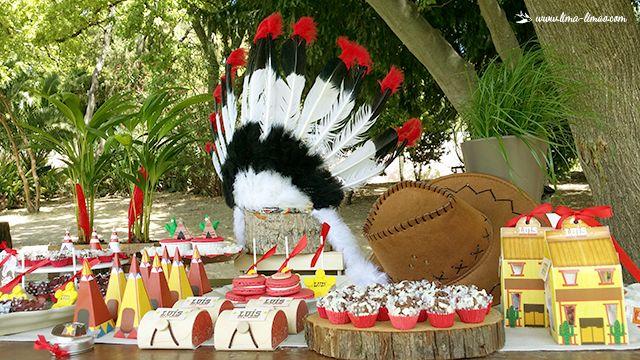 Lima Limão - festas com charme: Índios e Cowboys: 7º aniversário do Luís!