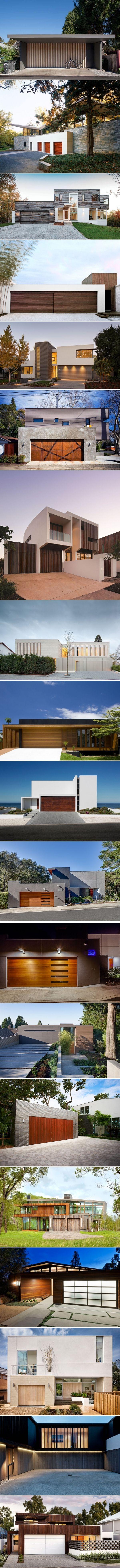 18 Inspirational Examples of Modern Garage Doors   CONTEMPORIST