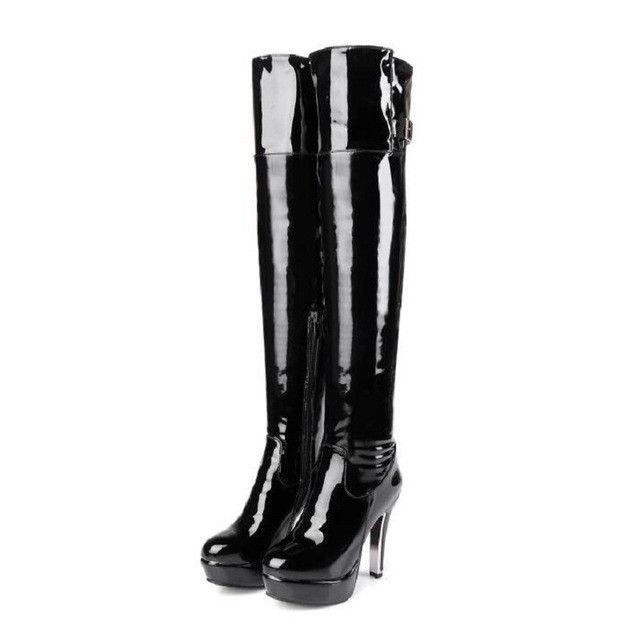 Patent Leather Boots up to Size 17 (29cm - EU 48)