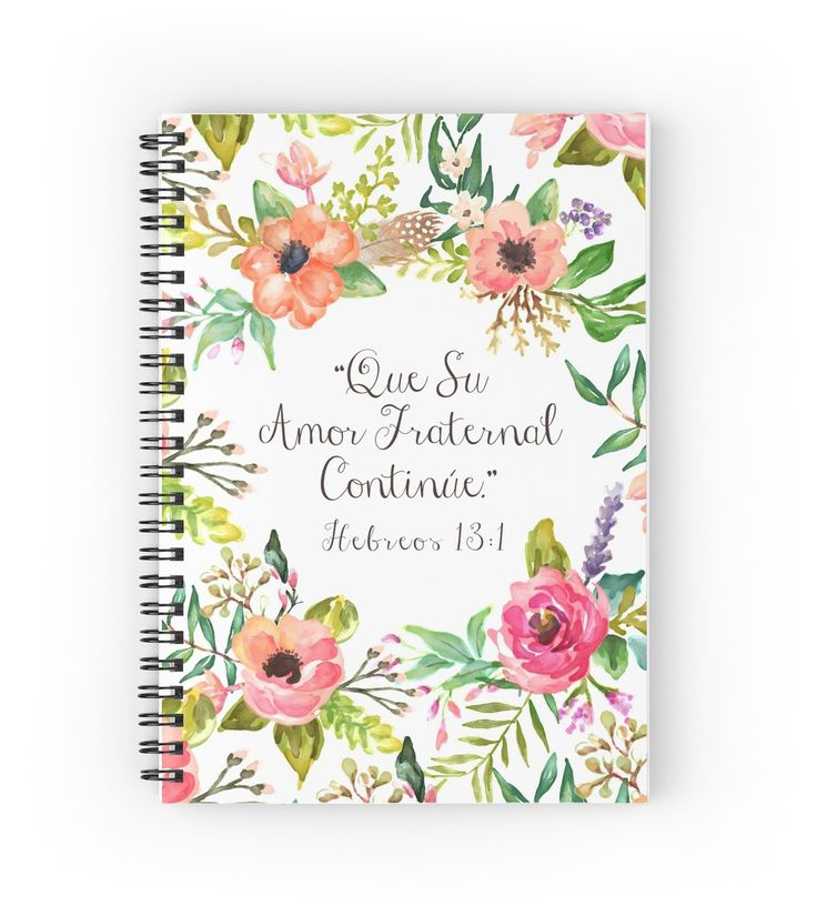 """""""Que Su Amor Fraternal Continue"""" Spiral Notebooks by JenielsonDesign   Redbubble"""