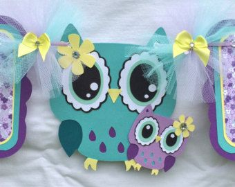 Owl baby shower baby shower banner owl by NancysBannerBoutique