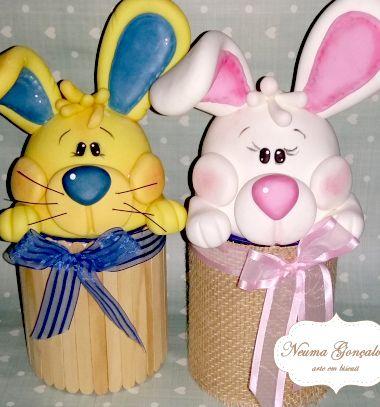 Bunny Easter egg gift box with air drying clay (or paper clay) // Nyuszis húsvéti ajándékdoboz konzervdobozból levegőre keményedő gyurmával // Mindy - craft tutorial collection // #crafts #DIY #craftTutorial #tutorial