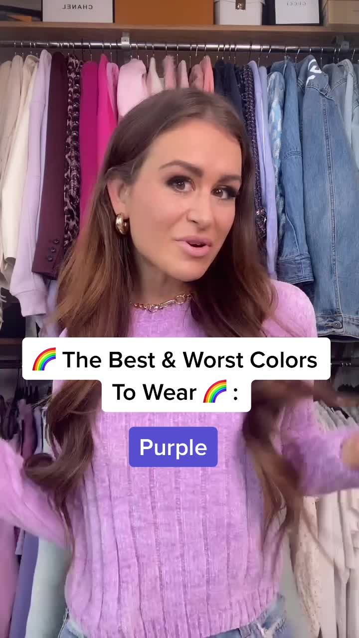 Billie Newland Billiexnewland On Tiktok Not Sure What To Wear With Purple Now You Do Tiktokfashion Styletips Style Fyp Viral Fashiontips Be