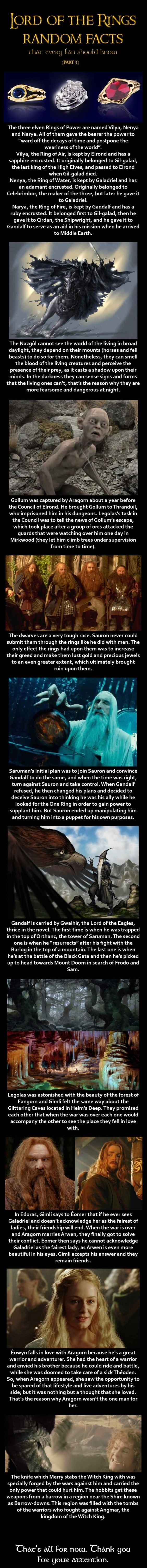 LOTR Facts: