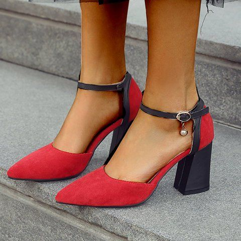 94855f6f83269 Buy Heels For Women from mirui at Stylewe. Online Shopping Chunky Heel  Dress Buckle Suede Heels, The Best Heels. Discover unique designers fashion  at ...