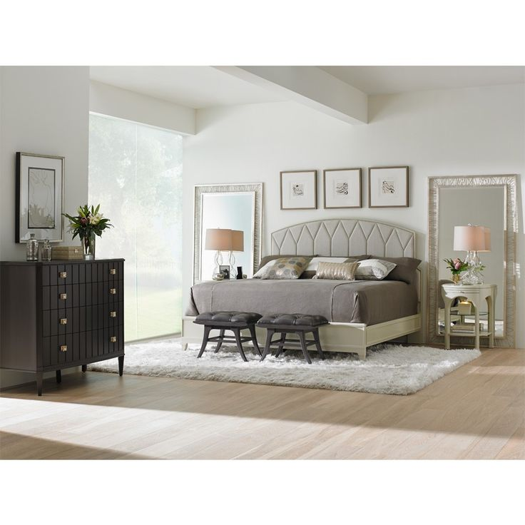 Crestaire Ladera Upholstered Headboard Bed, Part Of Stanley Furnitureu0027s  Crestaire Bedroom Set By Humble Abode