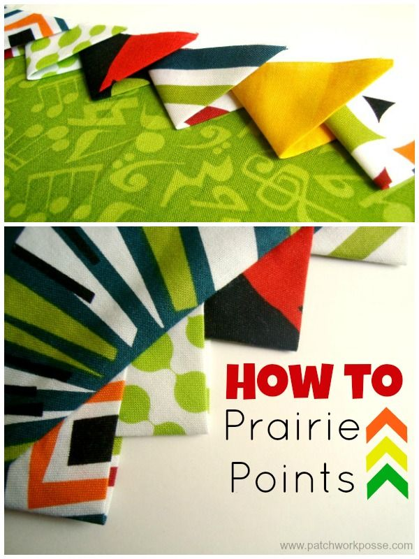 How to Make Prairie Points | patchwork posse #sewing #quilting
