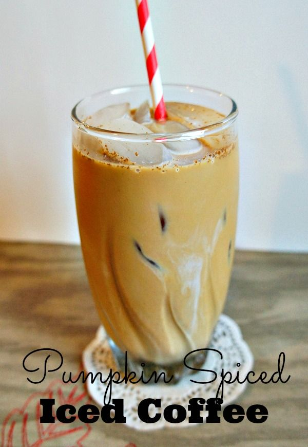 Pumpkin Spiced Iced Coffee with @Seattle's Best Coffee - a great pumpkin spice coffee knock off recipe