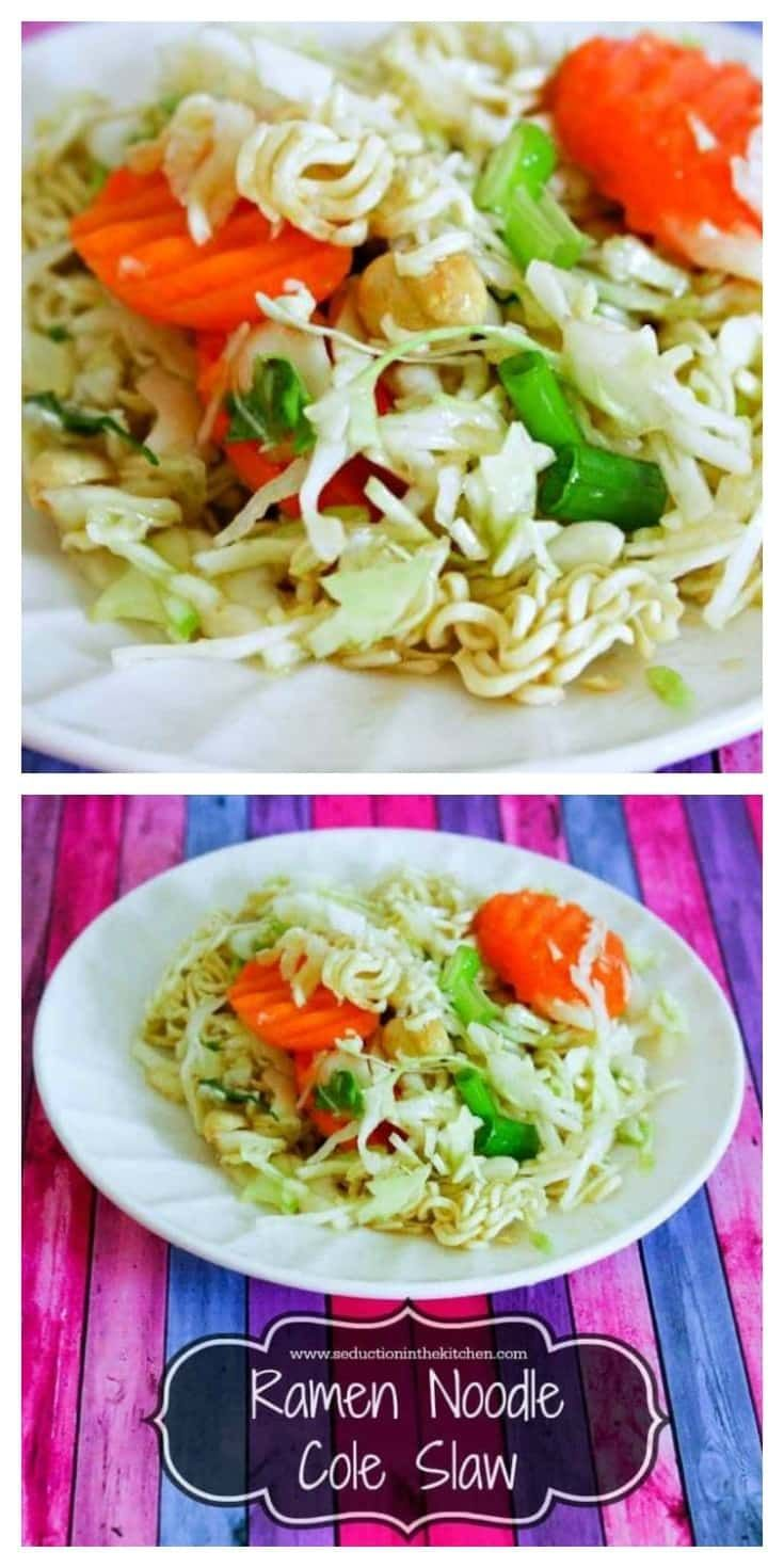 #Ramen #Noodle Cole Slaw is a wonderful and easy and cheap way to add #Asian flavor to #coleslaw. Warning, this dish is very addicting. via @SeductionRecipe