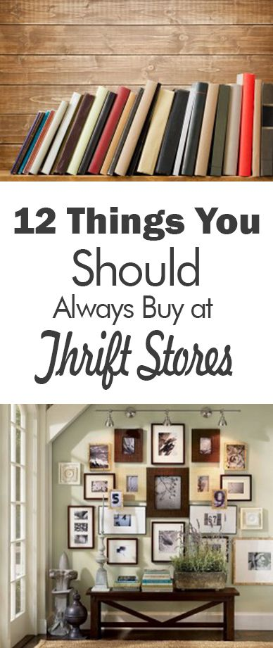 12 Things You Should Always Buy at Thrift Stores