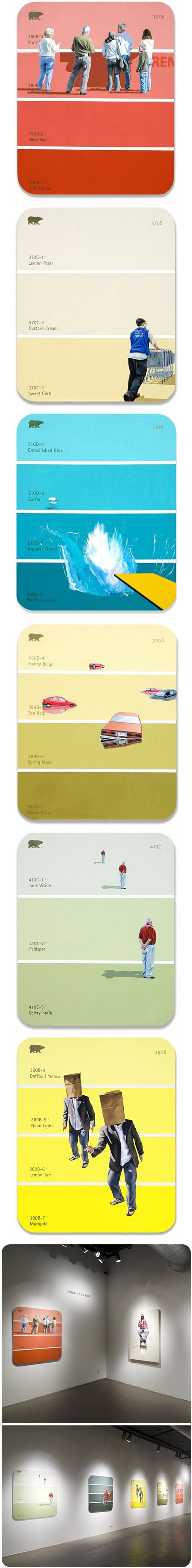 shawn huckins on paint chipsPainting Samples, Painting Swatches, Paint Chips, Jealous Curator, Shawn Huckins, Colors Swatches, Artists Shawn, Shaw Huckins, Painting Chips Art