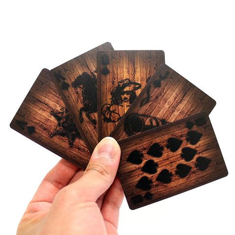 Cool gift ideas: Wooden Deck of Cards etc.