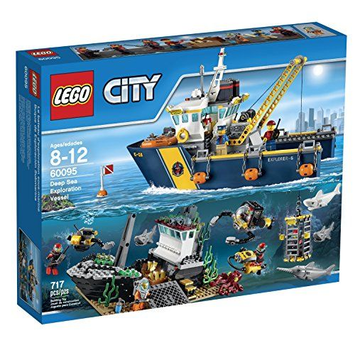 LEGO City Deep Sea Explorers 60095 Exploration Vessel Building Kit LEGO http://www.amazon.com/dp/B00WHZ2M3Y/ref=cm_sw_r_pi_dp_XVRMvb17FE65Z