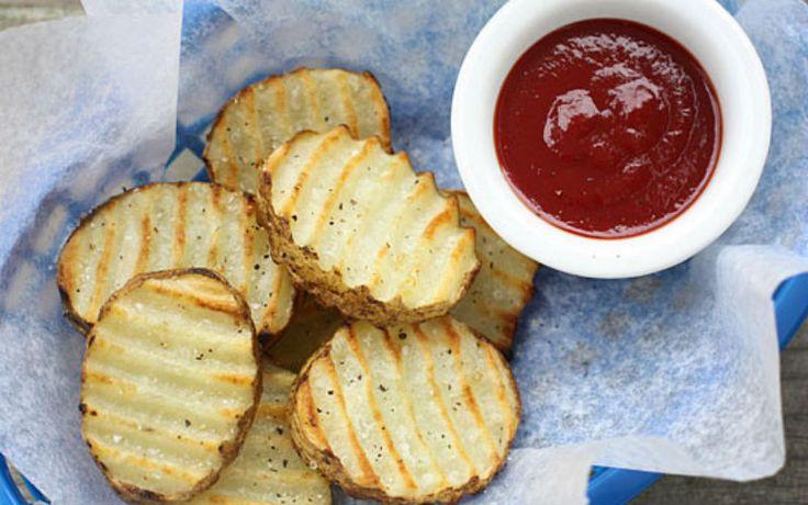 Batatas rústicas grelhadas