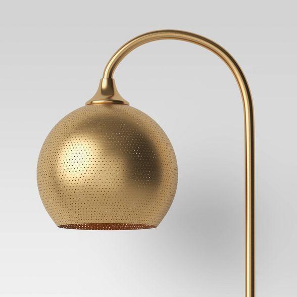 Floor Lamps Gold Includes Led Light Bulb Opalhouse In 2020 Gold Floor Lamp Energy Efficient Light Bulbs Floor Lamp