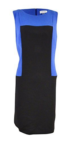 Calvin Klein Women's Colorblocked Crepe Sheath Dress (10, Atlantis/Black) Dress features lined top, sleeveless, colorblocked crepe fabric, sheath silhouette, and concealed back zipper closure.LinedConcealed back zipperRound necklineColorblocked crepe fabricSheath silhouette Related Post                      Piles – Ms Pretty Pussy (Chopped and Screwed...      Piles - Ms Pretty Pussy (Chopped and Screwed By DJ