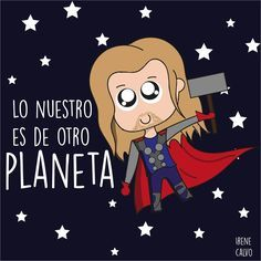 Ilustracion inspirada en Thor de Irene Calvo