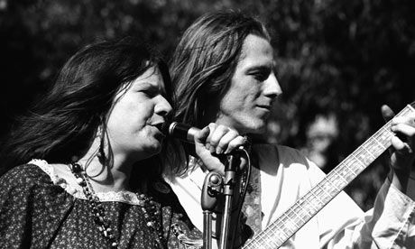 Janis Joplin with James Gurley performing in Golden Gate Park, San Francisco in 1967 Photograph: Ted Streshinsky/Corbis