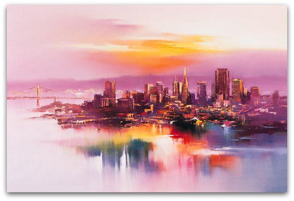 Art Symphony: Landscapes illuminated by rainbow-hued washes of light