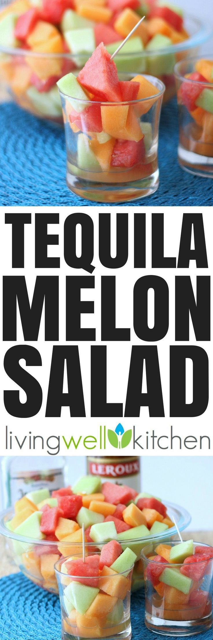 """Tequila intoxicated melon is a glorious way to celebrate Cinco de Mayo or just to enjoy on a warm day. This """"salad"""" is quite refreshing. Tequila Melon Salad recipe from @memeinge is great for parties and is a fun adult only treat. Gluten free, dairy free"""