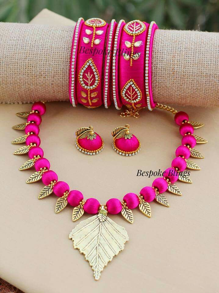583 best Silk Thread Jewellery Ideas images on Pinterest | Thread ...