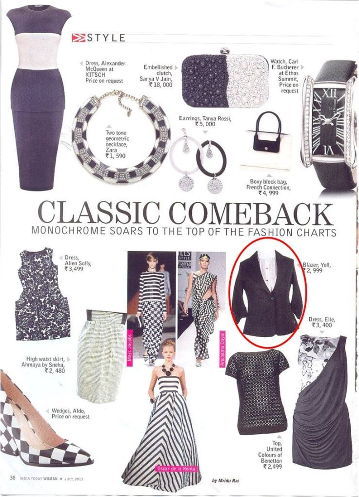 From between the Fashion Pages: YELL blazer makes it a pretty Classic Comeback in India Today!