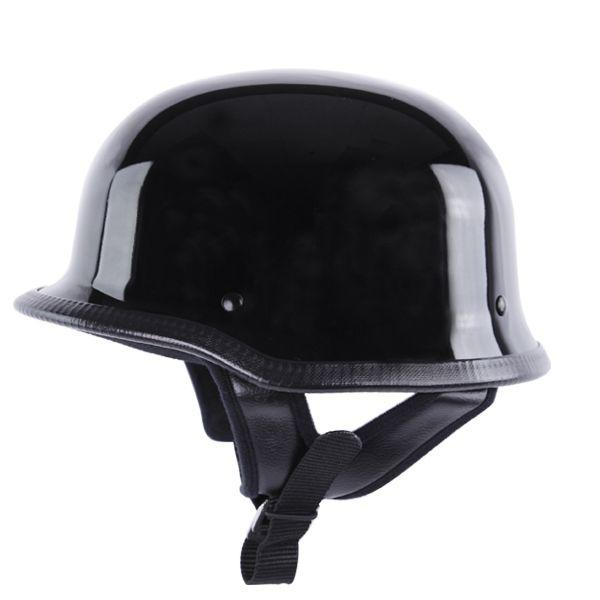 German Helmets - HCI-115 Black DOT German Motorcycle Helmet